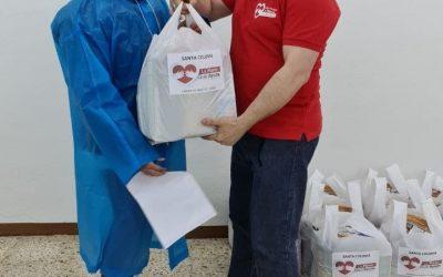 Food distribution in Santa Coloma